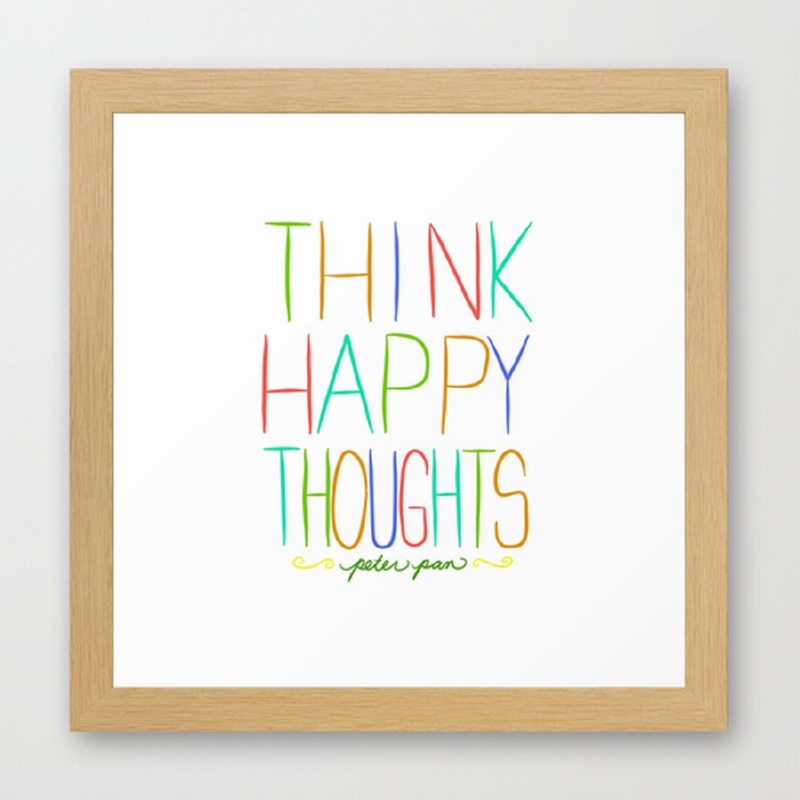Free Printable: Think Happy Thoughts | A Waltz Through Disney