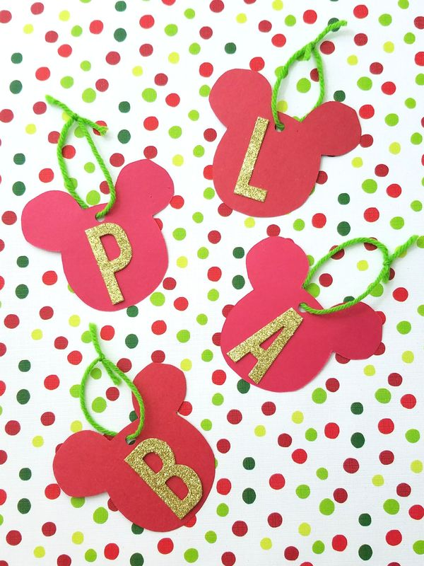 DIY Mickey Mouse Monogram Gift Tags | A Waltz Through Disney