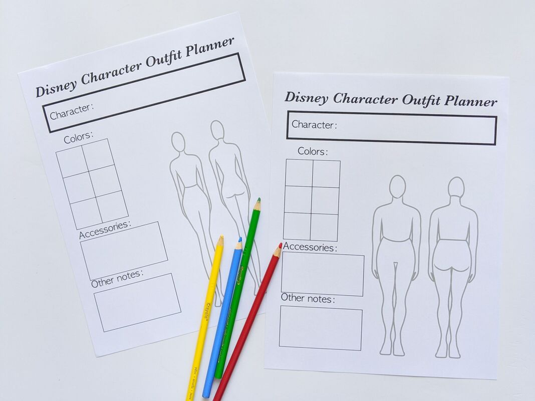 Free Printable: Disneybound Outfit Planner