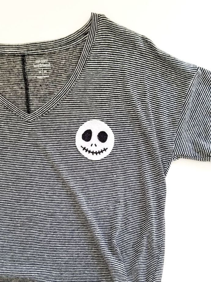 DIY Jack Skellington Tee | A Waltz Through Disney