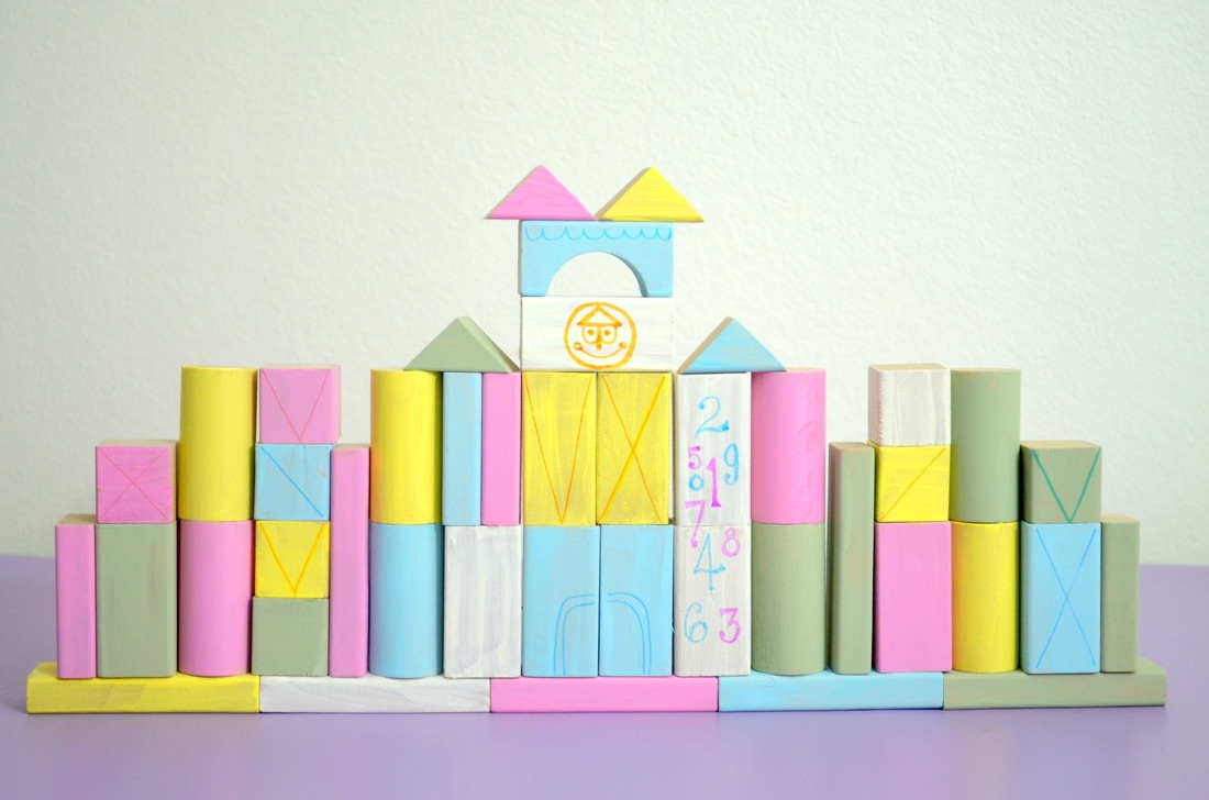 DIY It's A Small World Wooden Blocks